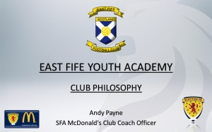 East Fife Youth Academy Club Philosophy